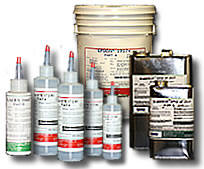 SANFORD Distributing supplies bulk epoxy and urethane compounds in a variety of containers ranging from dispensing Poly bottles to pints, quarts, gallons and 5 gallon pails.
